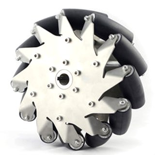 Nexus Robot Mecanum Wheel 203MM Stainless Steel Mecanum Wheel left with rubber wheels 14151L