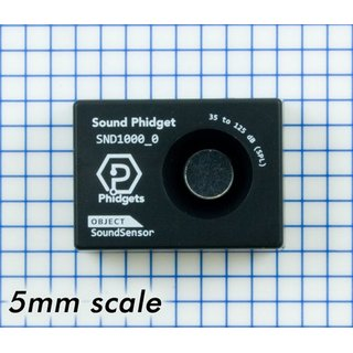 Phidgets sound sensor 34 to 102 dB, supports A- and C-weightings, sound pressure level meter 26mA