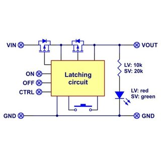 Mini Pushbutton Power Switch with Reverse Voltage Protection, LV