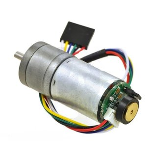 Pololu 20.4:1 Metal geared motor LP 6V with 48 CPR Encoder (without end cap) 290U/min, 250mA, 2,4A