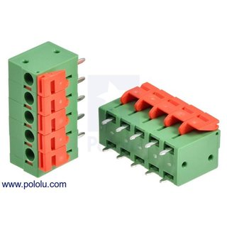 Screwless Terminal Block: 5-Pin, 0.2? Pitch, Top Entry (2-Pack)