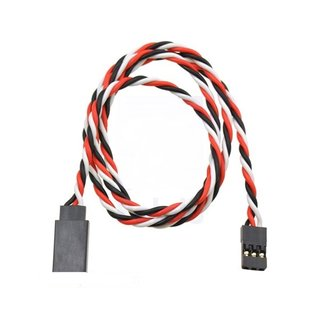 Pololu Twisted Servo Extension Cable 24 (60cm) Male - Female, 22-AWG suitable for JR and Futaba Connectors