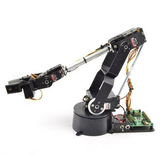 Lynxmotion AL5D robot arm + rotation kit with 4+1 degrees of freedom (without servos) - 25cm reach & 4.5kg rotation load