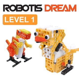 Robotis DREAM II Level 1 Robot construction kit for children 8 years and older for playing and learning Beginners kit Robotics Toys for assembling and experimenting with battery and USB cable