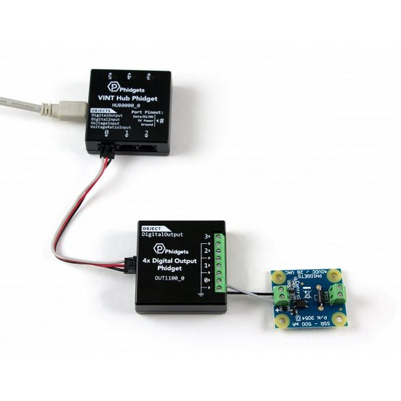 Phidgets - SSR relay board max  30V-DC MOSFET semiconductor relay 10mA
