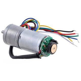 Pololu 75:1 Metal geared motor LP 6V with 48 CPR Encoder (without end cap), 78U/min, 250mA, 2,4A