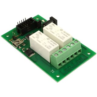 Devantech - Intelligent Dual Relay Controller USB Mini, 16A, sensor controlled, can be operated autonomously