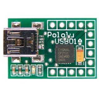 Pololu USB zu Serial Adapter kompakt USB 2.0 basierend auf Silicon Labs CP2102 Chip 25mA