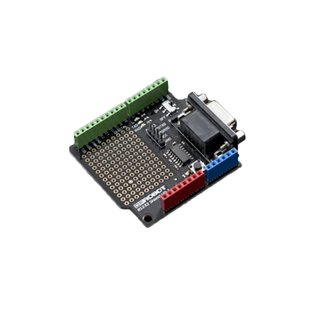 RS232 shield Schld for Arduino Controller Integrate shield from DB9 connector 16 digital IO port 6 analog IO port RS232 pins 55mmx53mm