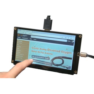 DFRobot - 7 inch HDMI display (1024 x 600) with capacitive touch screen 5V 1200mA, compatible with LattePanda, Raspberry Pi etc.