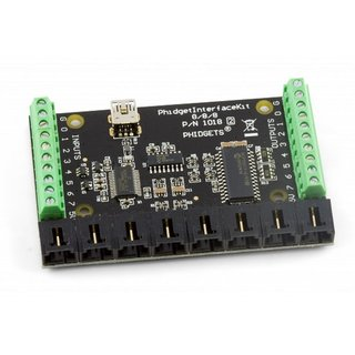 Phidget Interface Kit 8/8/8 Interface Board Reading of digital inputs, connection of sensors, control outputs