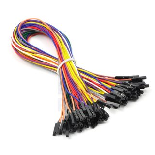 Pololu jumper cable set 50 pieces Jumper Wire stranded 26 AWG wires double ended female connector length 12 inch (30.48cm)