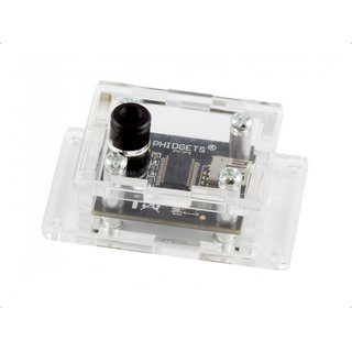 Acrylic enclosure for 1045 Phidget temperature sensor IR enclosure for protection and access to all terminals and connections through openings