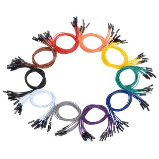 Pololu - Premium AWG Bridge Wire 50 pieces - 10 colored assortment Male & Female 30cm length, for use with 2.54mm pin headers