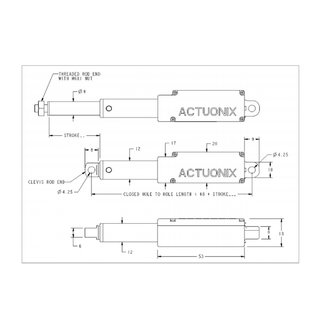 Actuonix L16-P Micro Linear Servo Linear actuator Actuator with internal potentiometer for analog position feedback