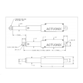Actuonix L16-S Micro Linear Actuator Linear Servo Actuator with Limit Switches Limit Switches