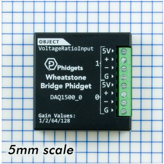 Phidgets Wheatstone Bridge Resistive sensor low voltage drop high resolution ADC for VINT connection